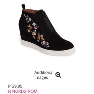 Nordstrom Felicia Wedge Bootie w/Floral Embroidery